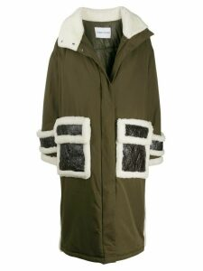 STAND STUDIO shearling parka - Green