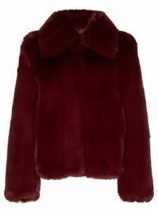 Sies Marjan shearling short coat - Red