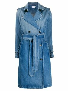 FRAME double breasted denim midi coat - Blue