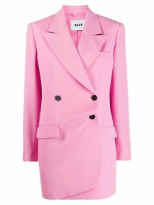 MSGM longline double breasted blazer - Pink