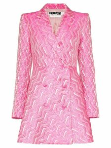 Rotate jacquard double-breasted blazer dress - Pink
