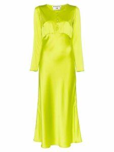 Bernadette button front midi dress - Green