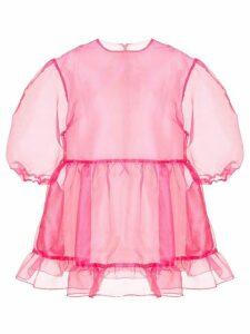 Sandy Liang Bader transparent dress - Pink