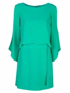 Halston Heritage slit sleeve dress - Green