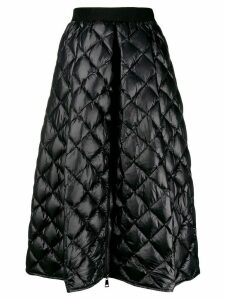 Moncler A-line quilted skirt - Black