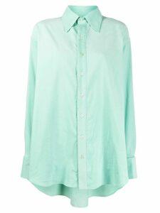Matthew Adams Dolan oversized corduroy shirt - Green