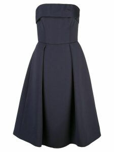 Amsale strapless flared dress - Blue