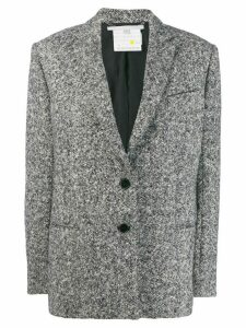 Stella McCartney melange knit wool blazer - Grey