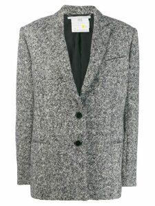 Stella McCartney melange knit wool blazer - Grey