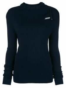 Monse logo drawstring fitted sweater - Blue