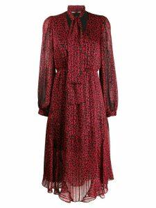 Pinko leopard print plissé dress - Red