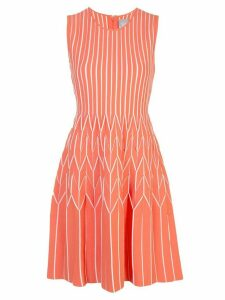Lela Rose fit-and-flare jersey-knit dress - ORANGE