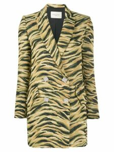 Giuseppe Di Morabito double-breasted animal pattern blazer - Neutrals