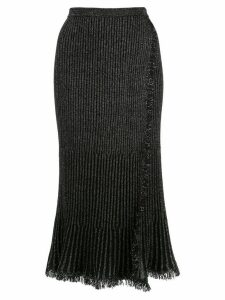 Diane von Furstenberg Brooklyn faux-wrap midi skirt - Black