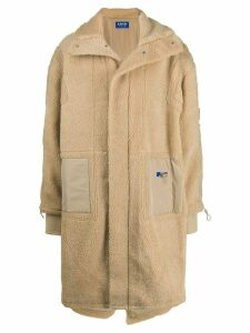 Ader Error Teddy shearling fishtail parka - Neutrals