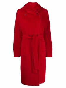Tagliatore Daisy hooded coat - Red