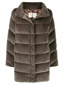 Etro panelled padded coat - Grey
