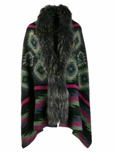 Bazar Deluxe loose-fit Aztec cardi-coat - Grey