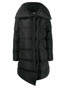 Bacon long oversized collar down jacket - Black