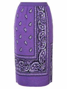 Coohem bandana jacquard skirt - PURPLE