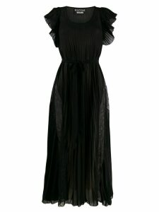 Boutique Moschino lace-panelled chiffon dress - Black