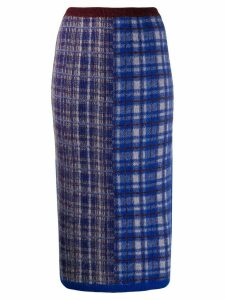Chiara Bertani intarsia knit pencil skirt - Blue