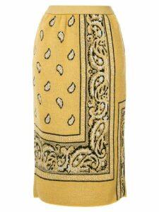 Coohem bandana jacquard skirt - Yellow