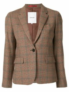 Loveless check pattern blazer - Brown