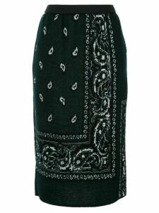 Coohem bandana jacquard knitted skirt - Green