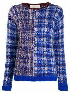 Chiara Bertani intarsia knit jumper - Blue