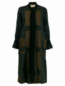 Uma Wang geometric panelled coat - Black