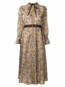 Loveless floral print shirt dress - Brown