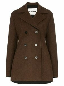 Jil Sander double-breasted peacoat - Brown