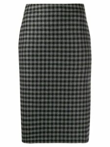 Boutique Moschino check pencil skirt - Grey