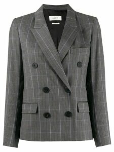Isabel Marant Étoile double-breasted plaid blazer - Grey