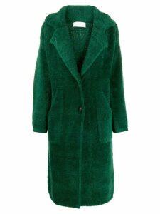 Chiara Bertani shearling single-breasted coat - Green