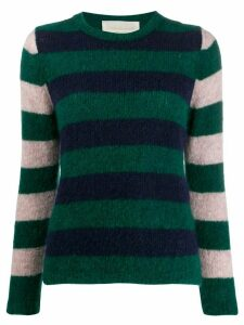 Chiara Bertani striped knit jumper - Green