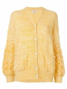 Coohem mohair cable knit cardigan - Yellow