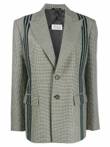 Maison Margiela houndstooth piped blazer - Grey