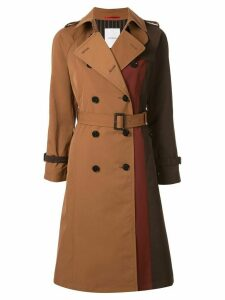 Loveless deconstructed double-breasted coat - Brown