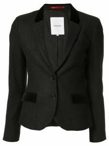 Loveless colour block blazer - Black