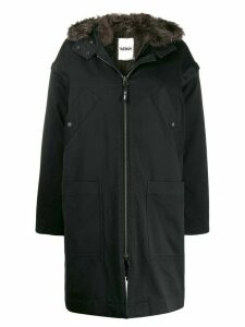 Yves Salomon Army hooded parka coat - Black