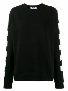 MSGM checkered flag print sweatshirt - Black
