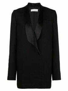 Marina Moscone oversized contrast blazer - Black