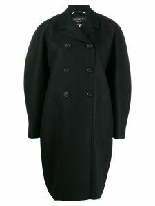 Rochas oversized double-breasted coat - Black