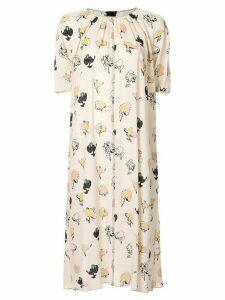 Marni printed midi dress - Yellow