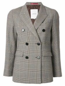 Loveless check pattern blazer - Grey