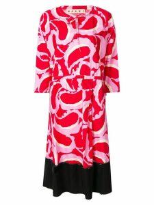 Marni printed midi dress - Pink