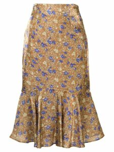 Loveless floral pattern skirt - Brown