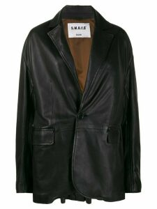 S.W.O.R.D 6.6.44 single-breasted oversized blazer - Black